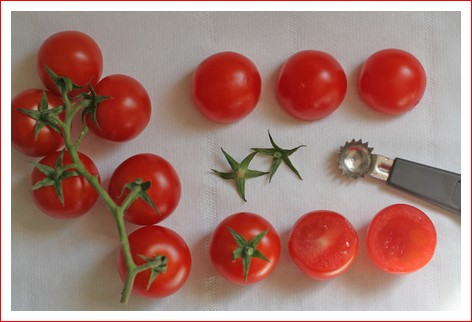 Bouquet de tomates cerises - party cherry tomatoes - delimoon.com