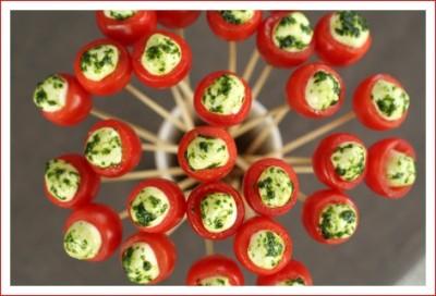 Bouquet de tomates cerises - party cherry tomatoes - delimoon.com