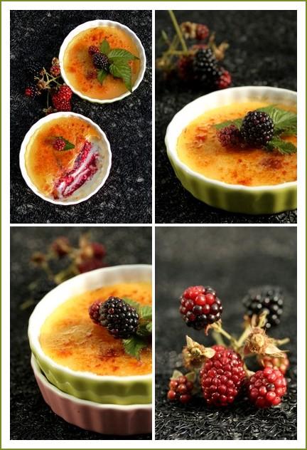 Crème brûlée au sirop de fleurs de sureau et sa compote de mûres - delimoon.com
