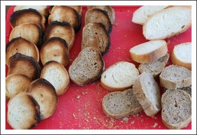 baguette à la farine blanche et complète