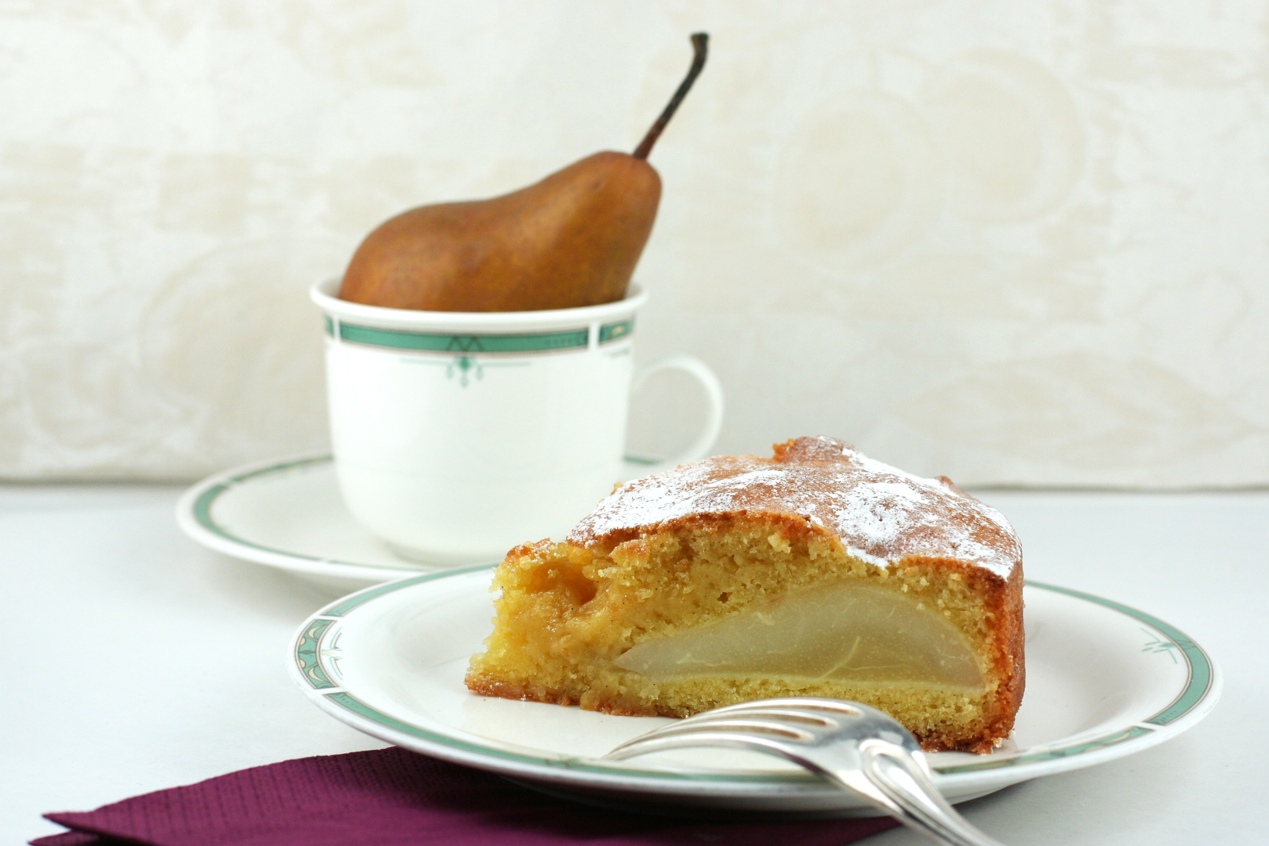 Gâteau fondant poires et vanille - delimoon.com