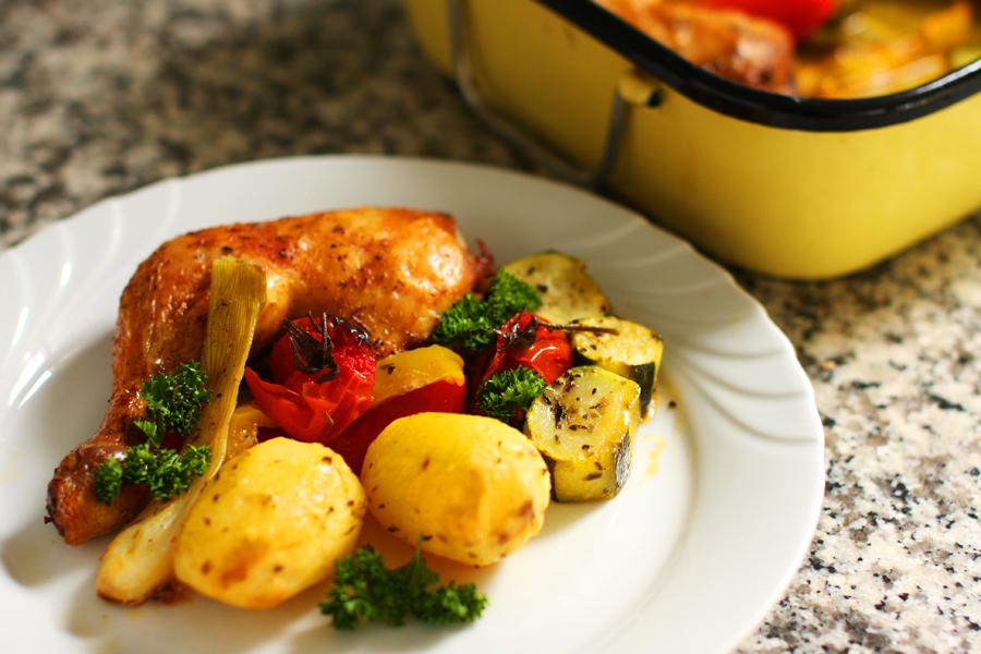 Poulet rôti aux légumes d'été - one pot -delimoon.com