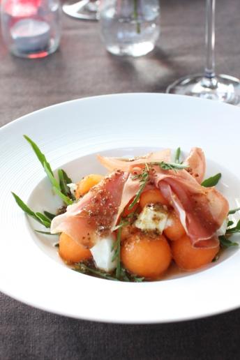 Salade melon mozzarella prosciutto