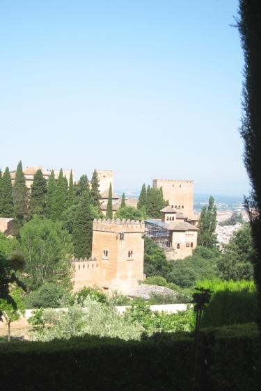 Les palais de l'Alhambra à Grenade