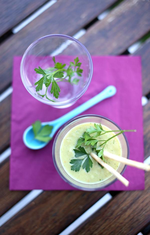 Gazpacho vert - soupe froide prête en un tour de main - delimoon.com