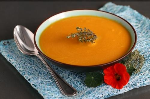 Soupe carotte - courge - delimoon.com - de la couleur dans votre assiette