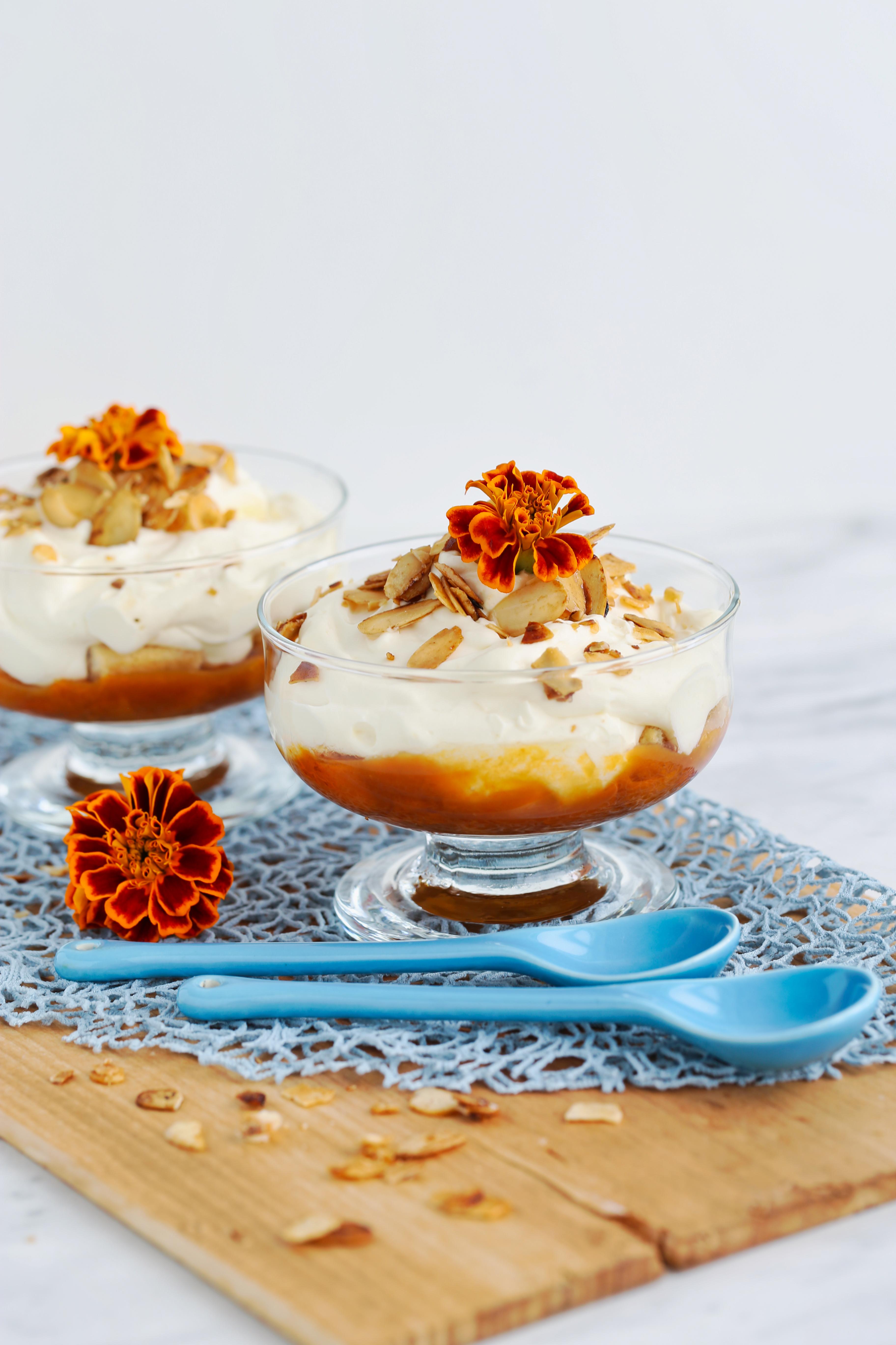 Comme un tiramisu aux abricots - recette sans oeufs et sans café - delimoon.com