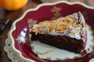 Gâteau au chocolat et à l'orange - delimoon.com - un petit gâteau à servir avec le café en toute circonstance - rapide à réaliser - moins d'une heure en tout