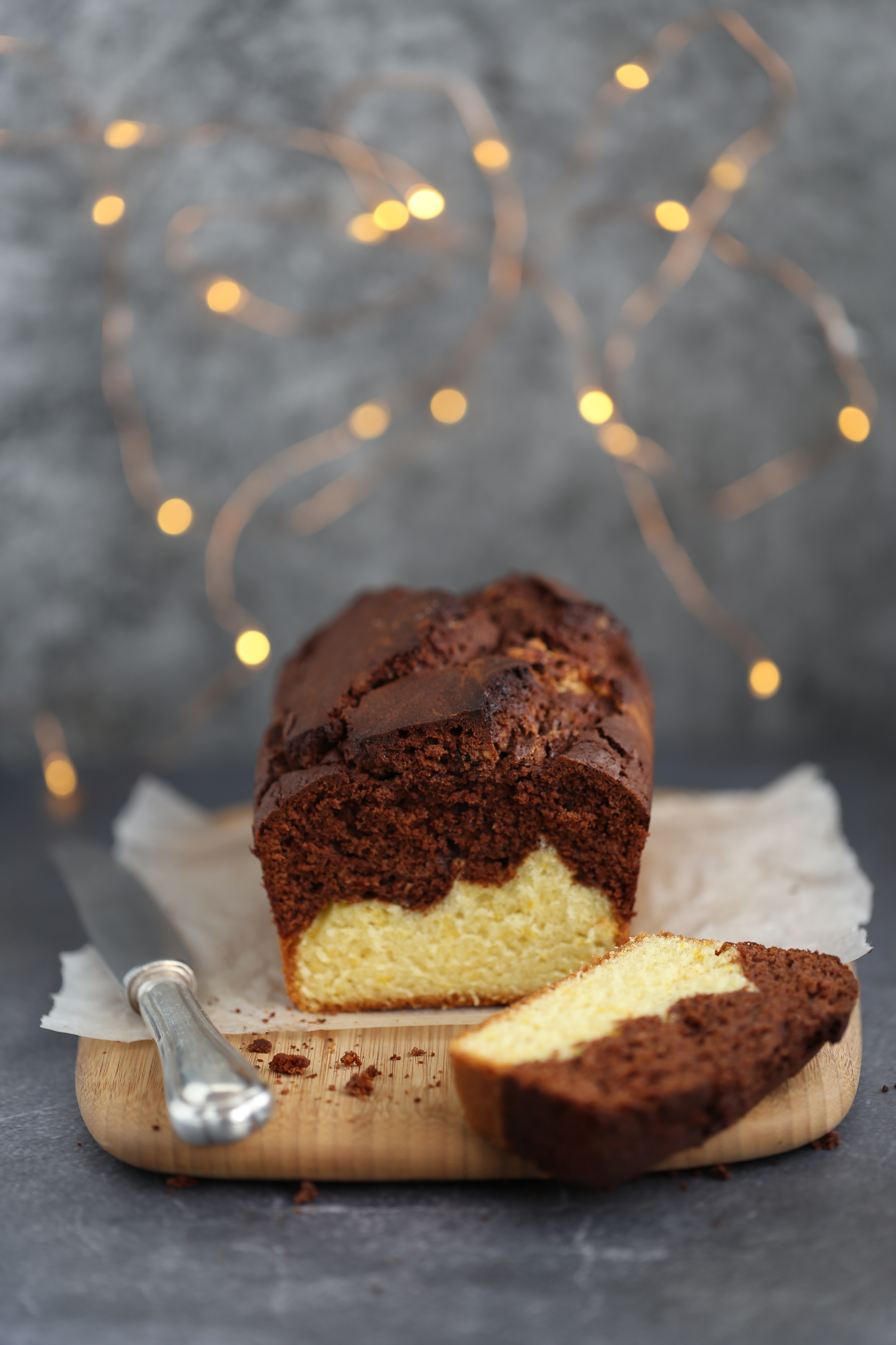 Cake choco-orange - marble cake -Delimoon.com