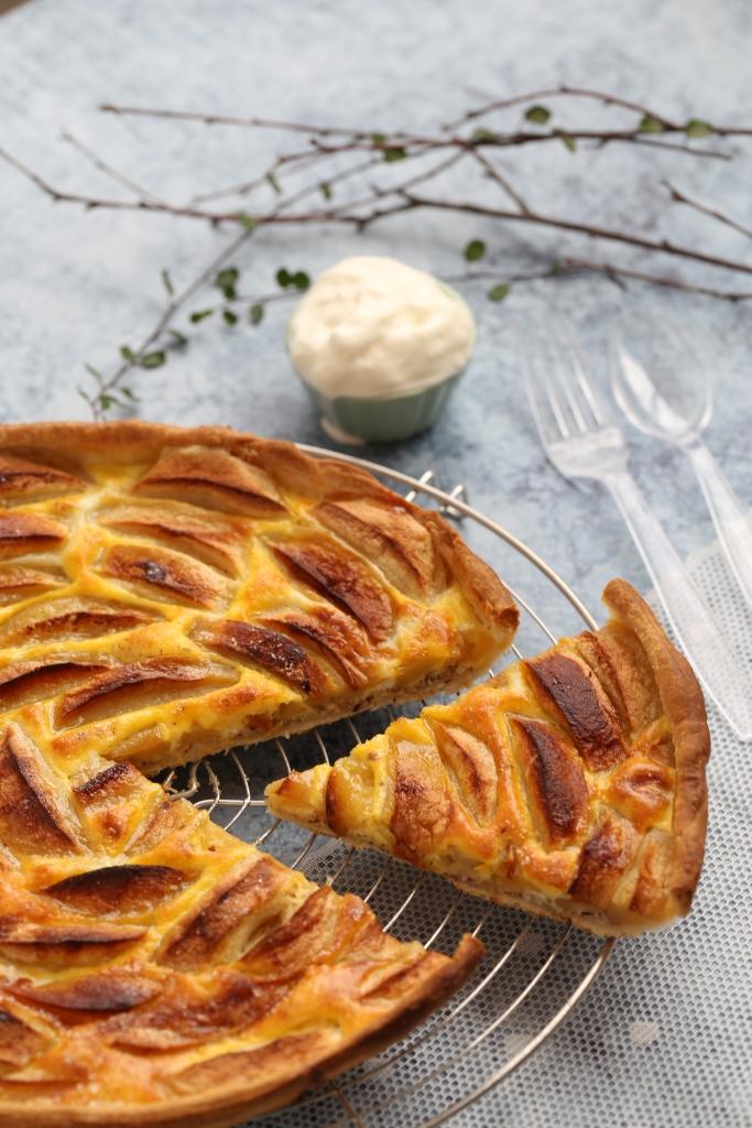 Gâteau (tarte) aux pommes suisse -delimoon.com