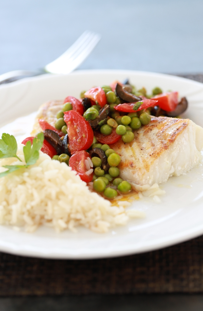 Filet de cabillaud et vinaigrette de légumes façon Cyril Lignac