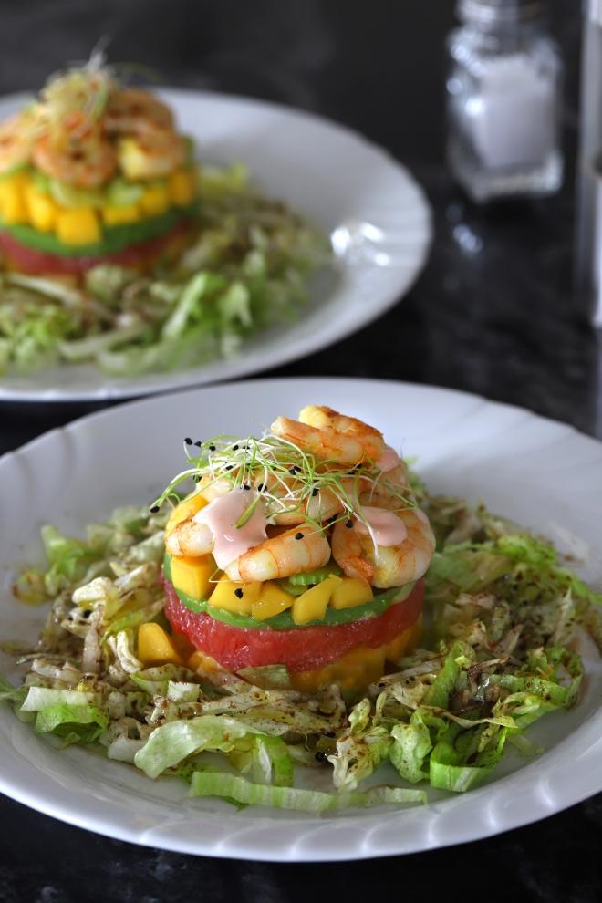 Salade cocktail de crevette selon Cyril Lignac