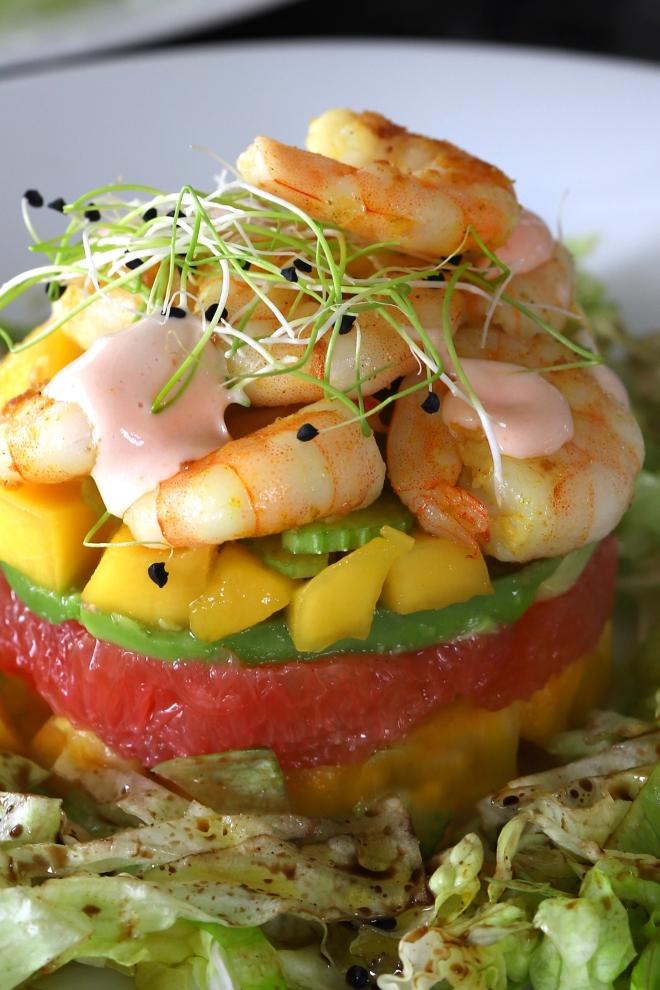 Salade cocktail de crevettes selon Cyril Lignac
